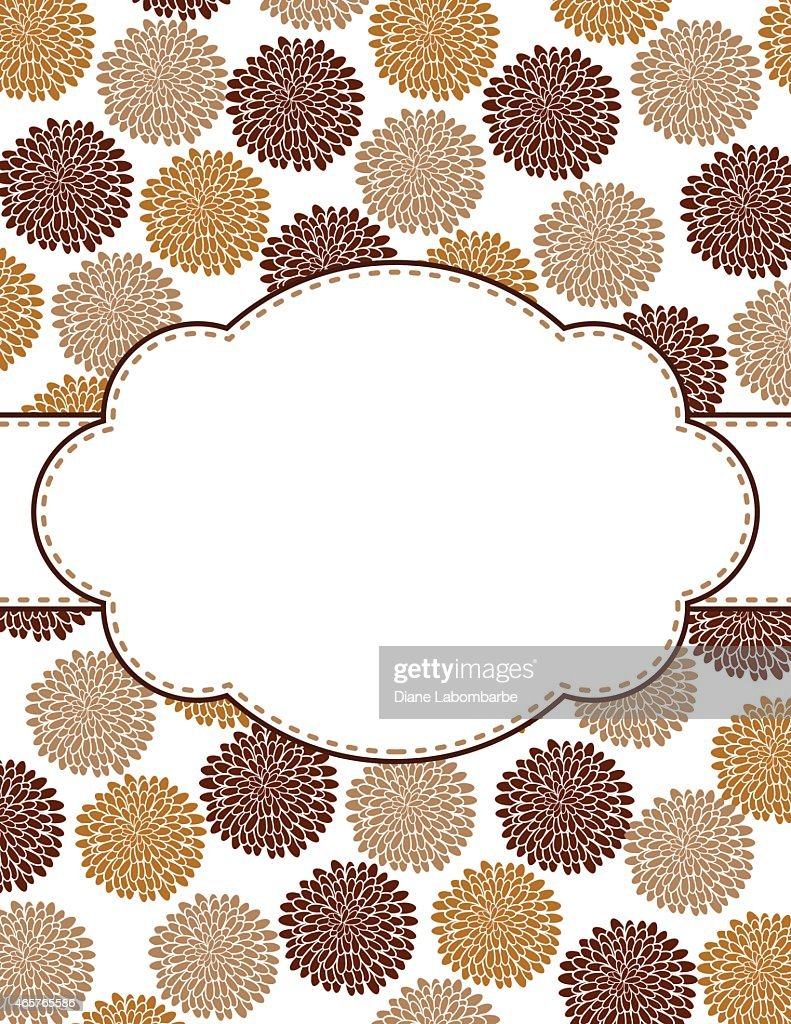 Chrysanthemum Oval Design Frame Template Vector Art | Getty Images