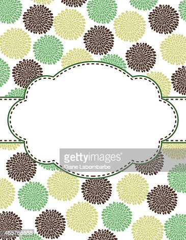Chrysanthemum Oval Design Frame Template Vector Art Getty Images