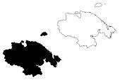 Chukotka Autonomous Okrug map vector