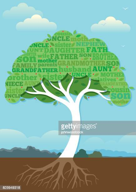 Chunky family tree illustration