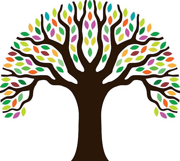 Chunky Little Tree Illustration Wall Art