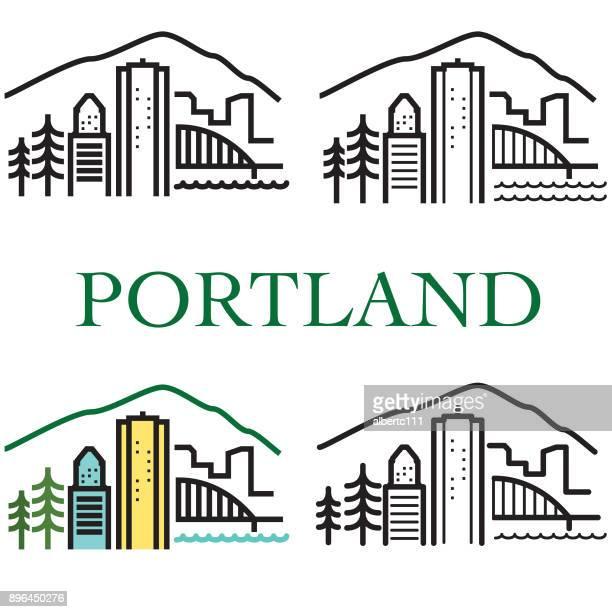 Chunky Style Portland Illustration