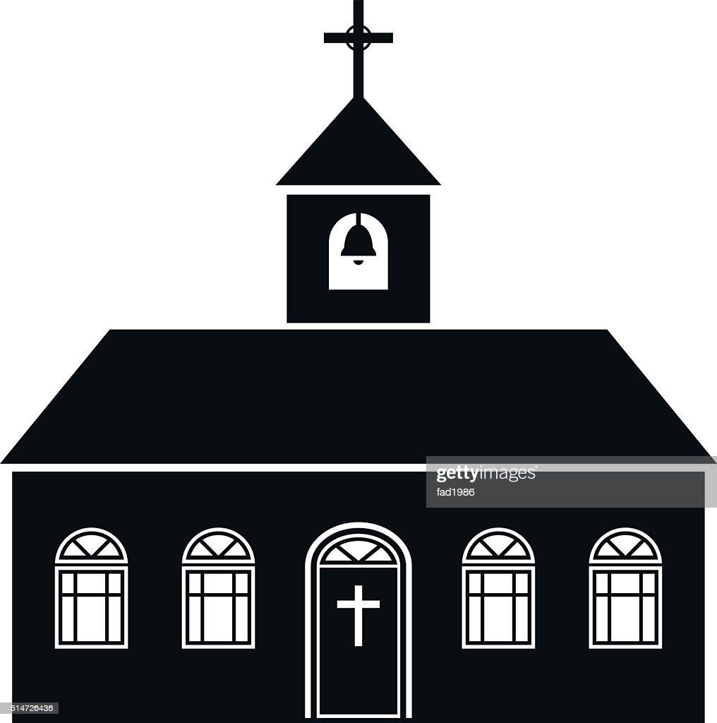 Church black icon isolated