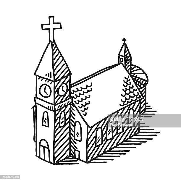 Illustrations et dessins anim s de glise getty images - Dessin eglise ...