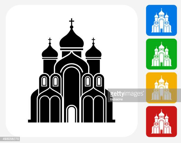church building icon flat graphic design - chapel stock illustrations, clip art, cartoons, & icons