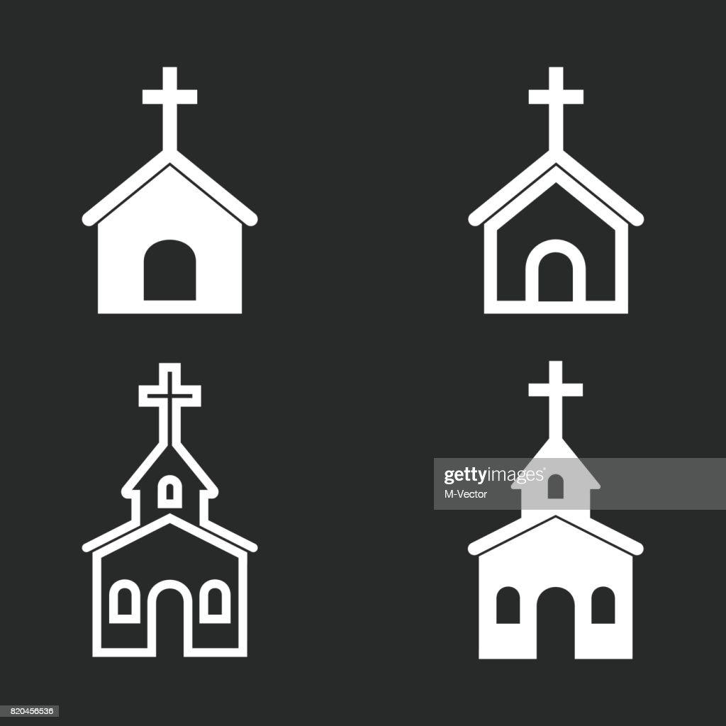 Church icon set.