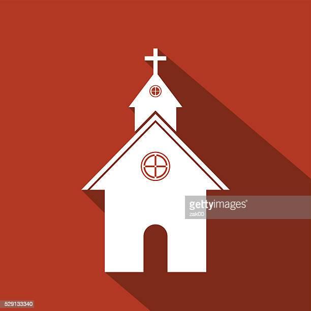 church icon - spire stock illustrations, clip art, cartoons, & icons