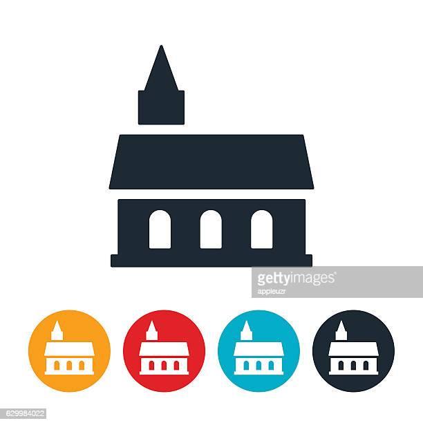 church icon - steeple stock illustrations, clip art, cartoons, & icons