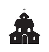 Church icon vector illustration isolated on white