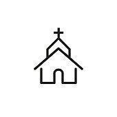 Church line icon