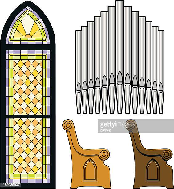 church objects - chapel stock illustrations, clip art, cartoons, & icons