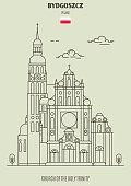 Church of the Holy Trinity in Bydgoszcz, Poland. Landmark icon