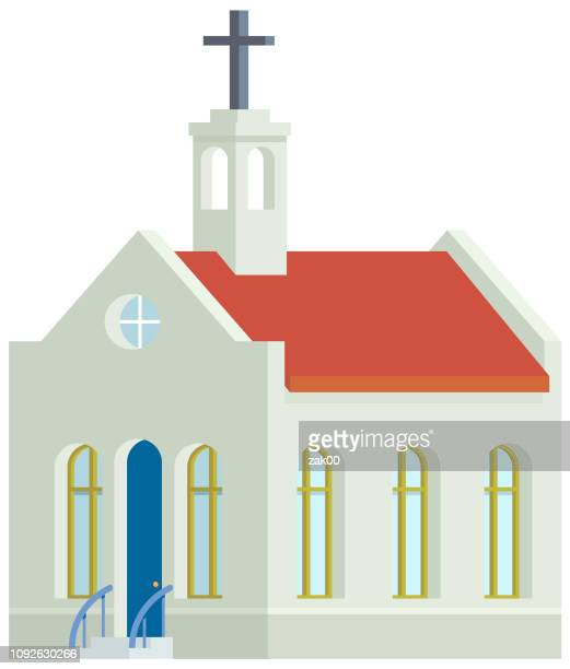 church vector icon - chapel stock illustrations, clip art, cartoons, & icons