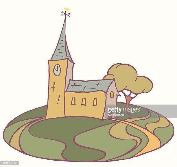 教会ます。 - 尖り屋根点のイラスト素材/クリップアート素材/マンガ素材/アイコン素材