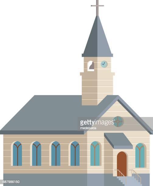 教会 - 尖り屋根点のイラスト素材/クリップアート素材/マンガ素材/アイコン素材
