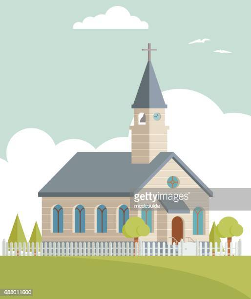 church - chapel stock illustrations, clip art, cartoons, & icons