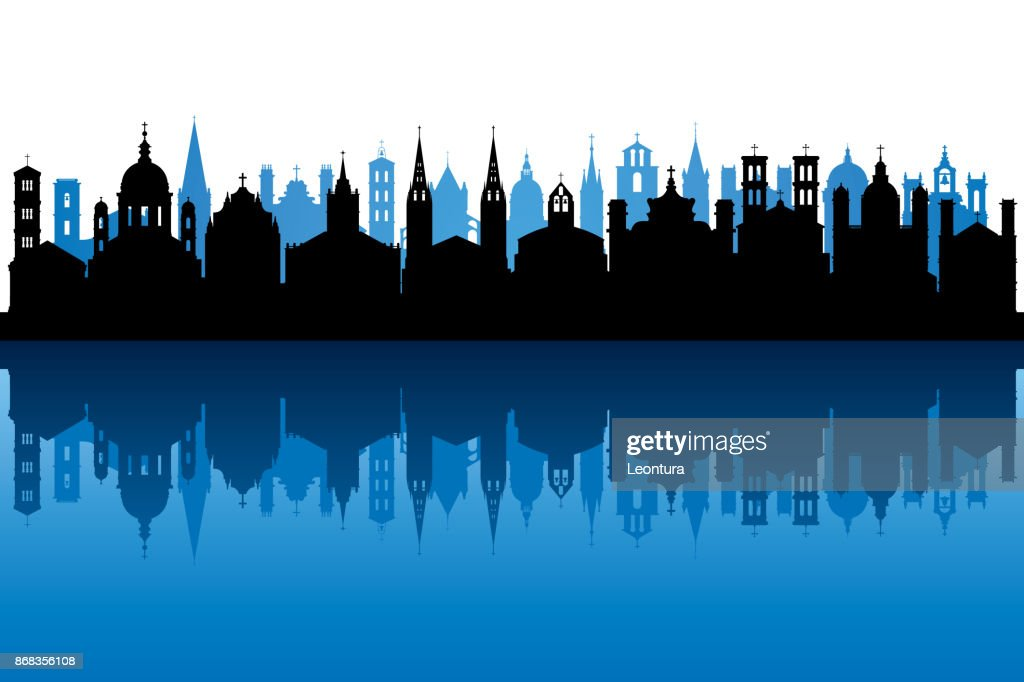 Churches (All Buildings Are Complete and Moveable) : Stock Illustration