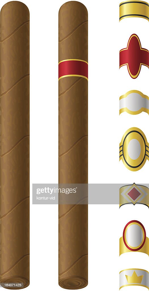 cigar labels for them vector illustration