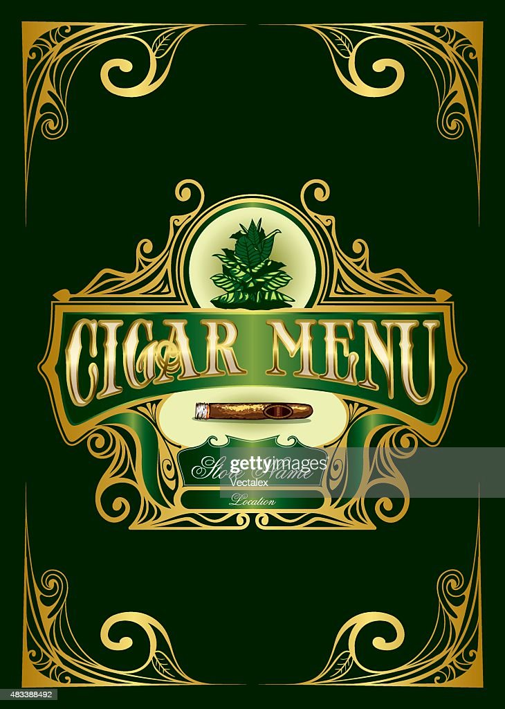 Cigar Menu List