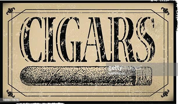 cigar sign background - retro - cigar stock illustrations