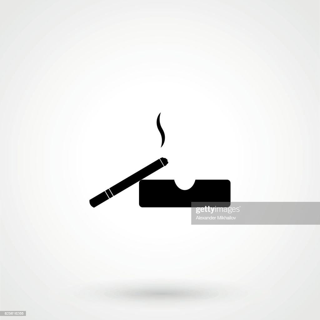 cigarette icon on the white background.
