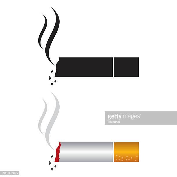 ilustraciones, imágenes clip art, dibujos animados e iconos de stock de icono de cigarrillo - cigarrillo