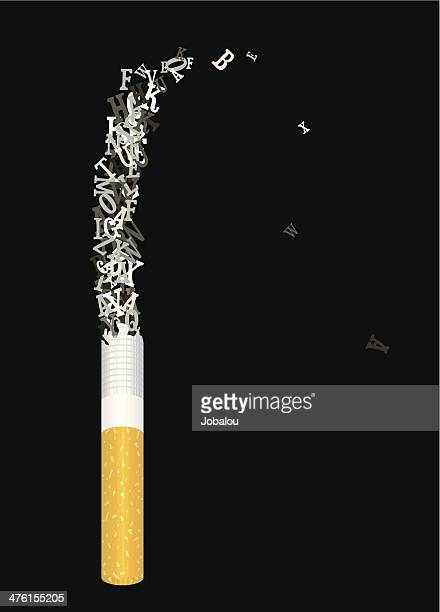 cigarette lettering of ashes - ash stock illustrations, clip art, cartoons, & icons