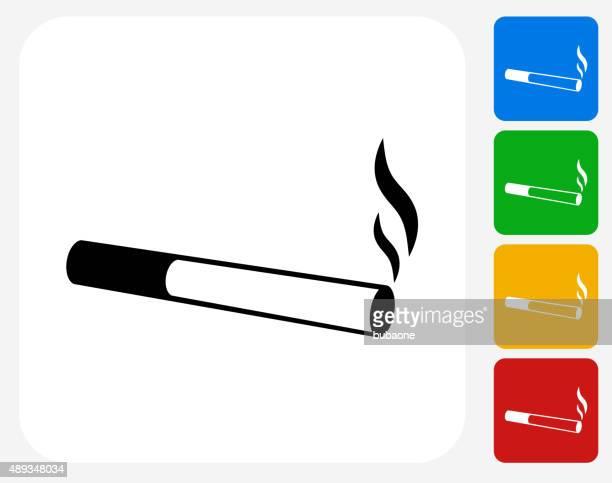 das rauchen von zigaretten symbol flache grafik design - zigarette stock-grafiken, -clipart, -cartoons und -symbole