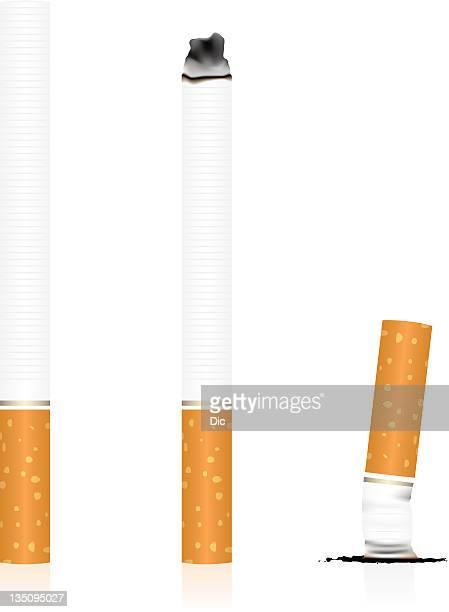 cigarette - ash stock illustrations, clip art, cartoons, & icons