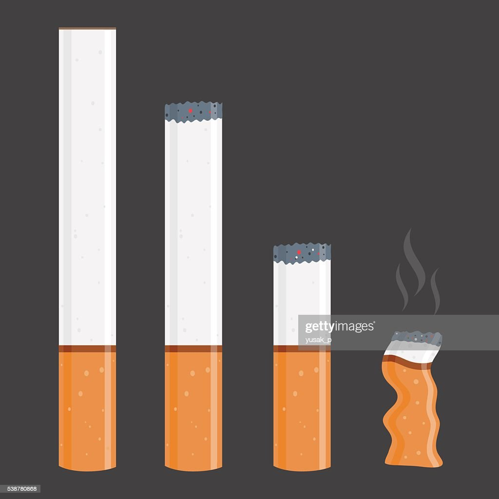 Cigarettes In Different Stages