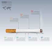 Cigarettes infographics,vector