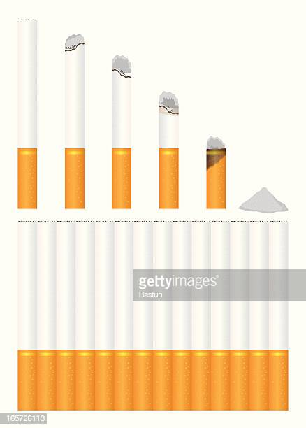 cigarettes - ash stock illustrations, clip art, cartoons, & icons