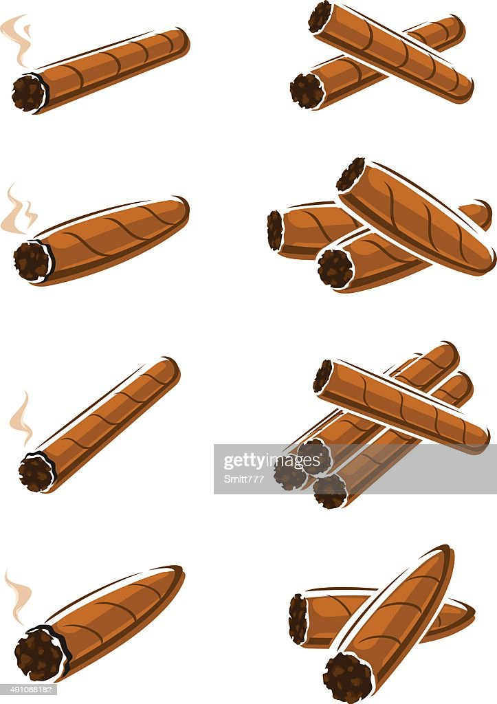 Cigars set. Vector