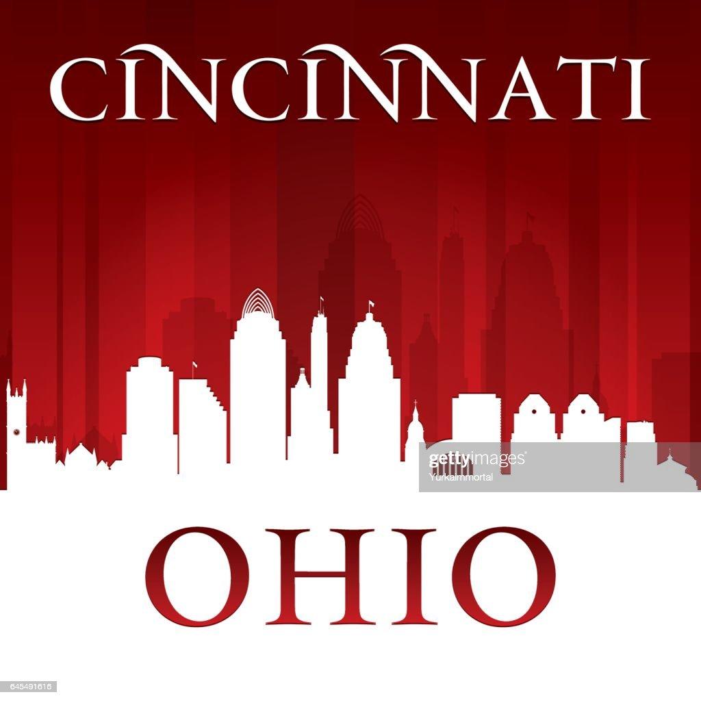 Cincinnati Ohio city skyline silhouette