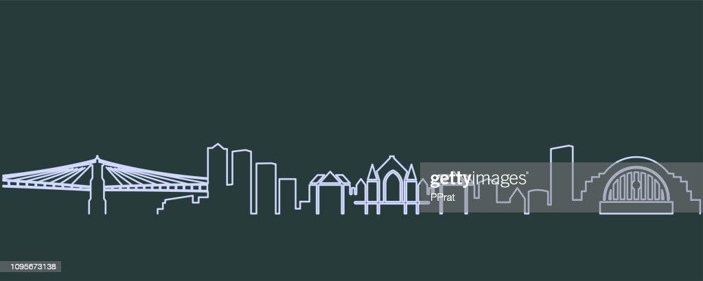Cincinnati Single Line Skyline