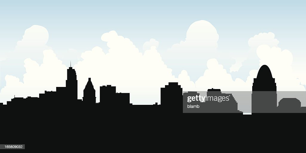 Cincinnati Skyline Silhouette
