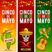 Cinco de Mayo banners set