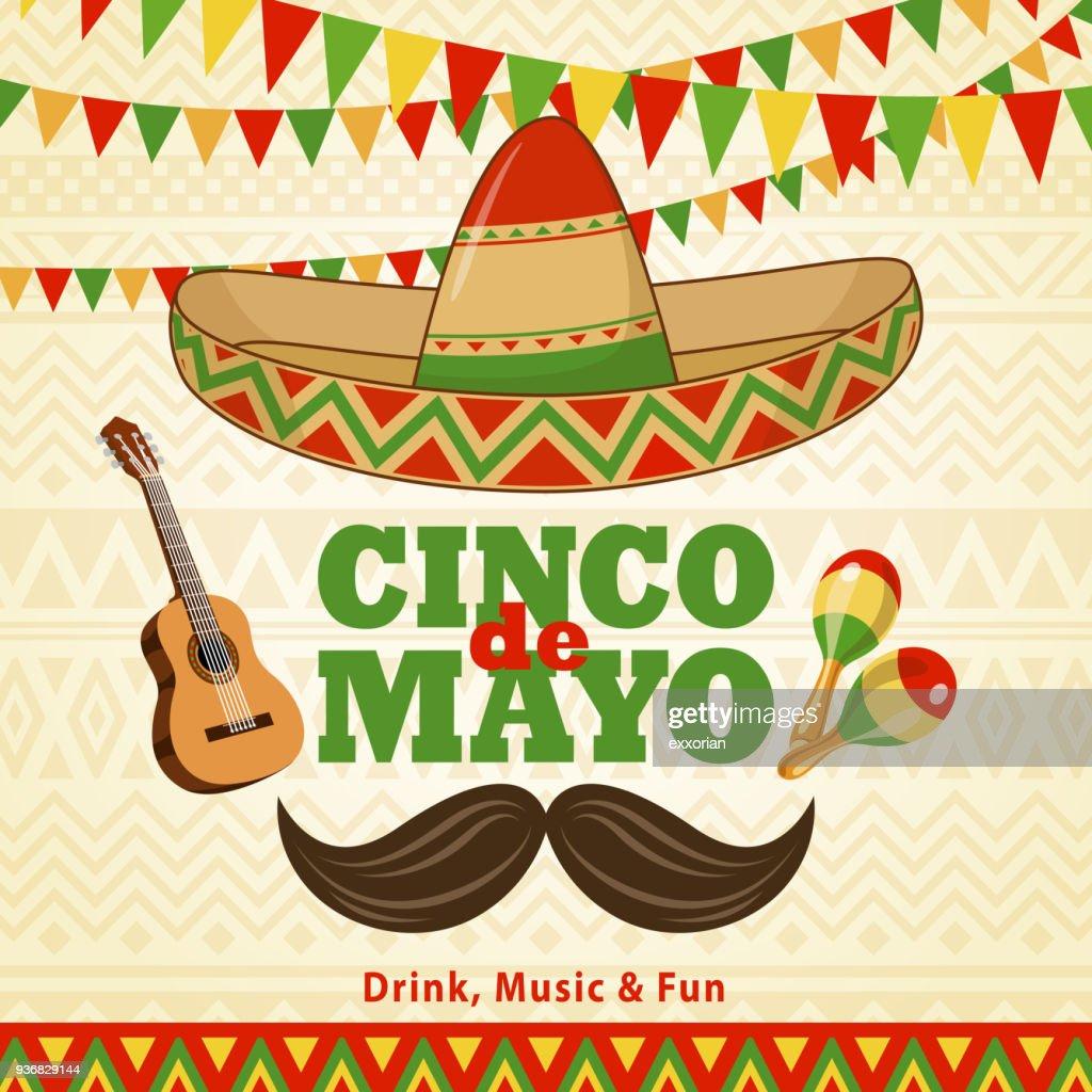 Cinco De Mayo Celebration : stock illustration