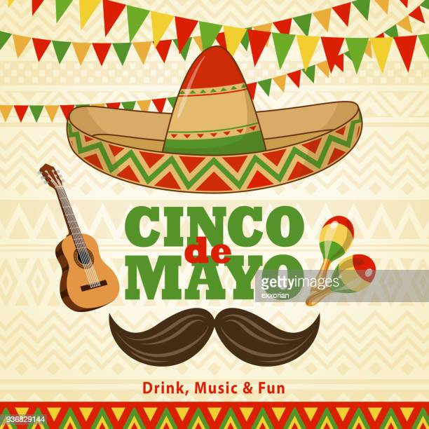 cinco de mayo celebration - cinco de mayo stock illustrations