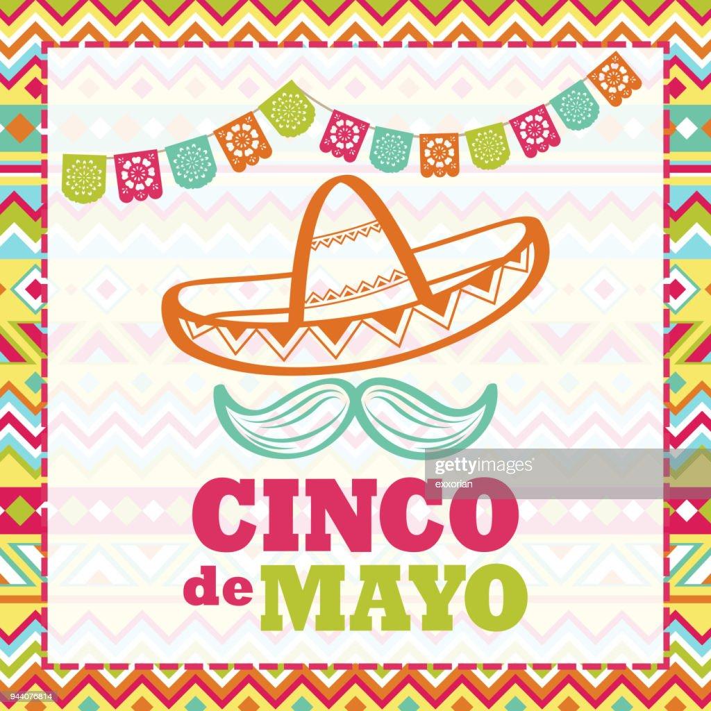 Celebração De Cinco De Mayo : Ilustração