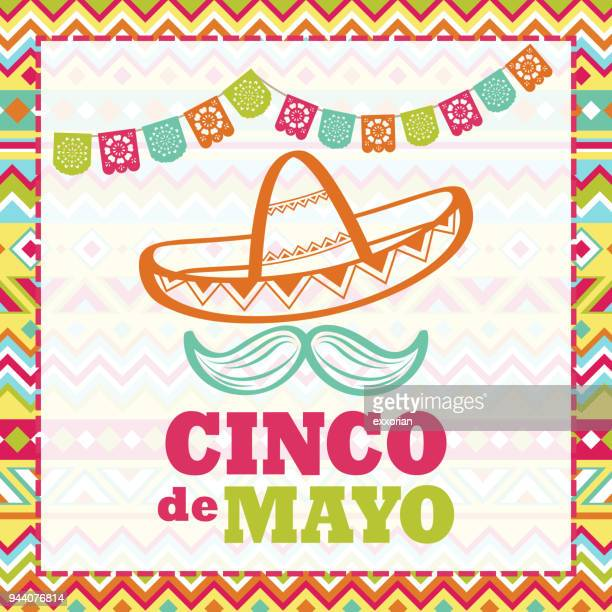 cinco de mayo celebration - sombrero stock illustrations