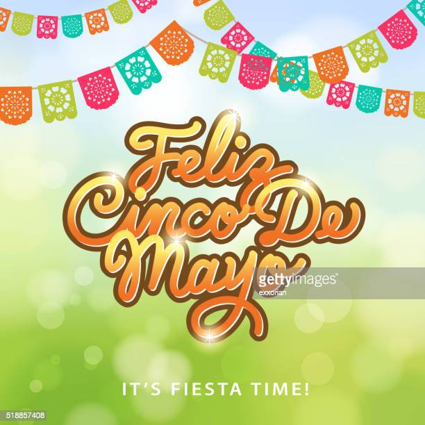 cinco de mayo papel picado - carnival celebration event stock illustrations, clip art, cartoons, & icons