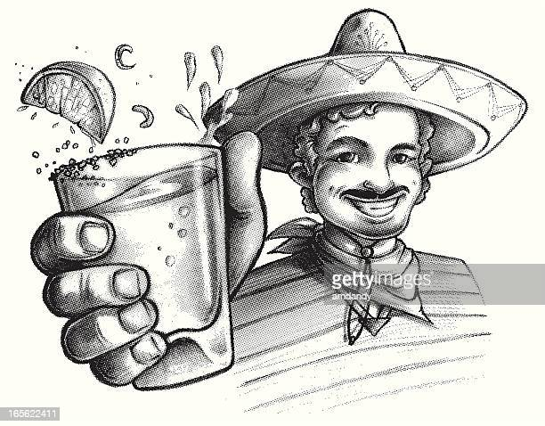 cinco de mayo, drink up! - sombrero stock illustrations