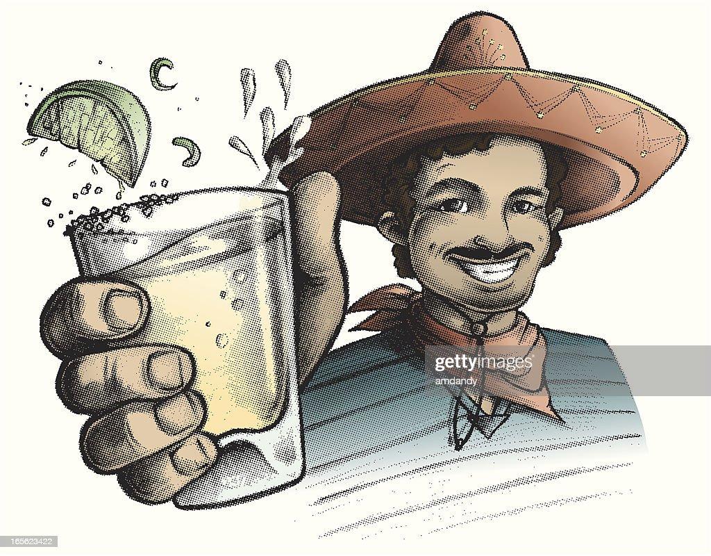 Cinco De Mayo, beba! : Ilustração