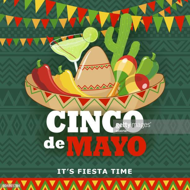 cinco de mayo fiesta - cinco de mayo stock illustrations