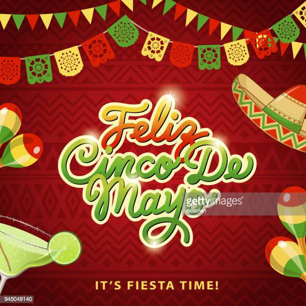 cinco de mayo fiesta - sombrero stock illustrations
