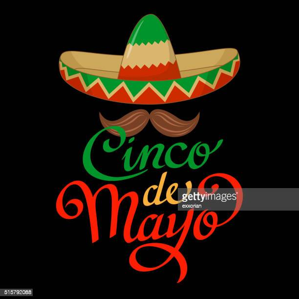 cinco de mayo sombrero symbol - sombrero stock illustrations