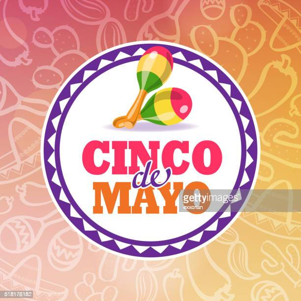 cinco de mayo maracas symbol - cinco de mayo stock illustrations