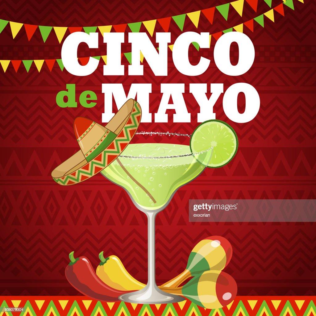 De Partida Cinco De Mayo Margarita : Ilustração