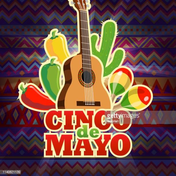 cinco de mayo mexican celebration - cinco de mayo stock illustrations